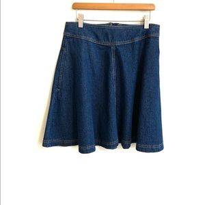 ANTHROPOLOGIE Jeans Skirt.